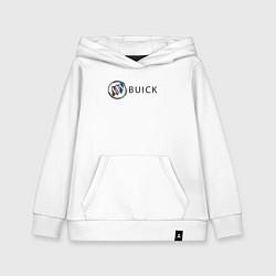 Толстовка детская хлопковая Buick цвета белый — фото 1