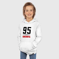 Толстовка детская хлопковая 95 Chechnya цвета белый — фото 2