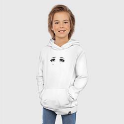 Толстовка детская хлопковая Глаза цвета белый — фото 2