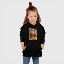 Толстовка детская хлопковая Билли Айлиш Billie Eilish цвета черный — фото 2