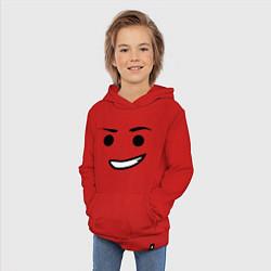 Толстовка детская хлопковая Emmet цвета красный — фото 2