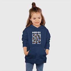 Толстовка детская хлопковая ROBLOX цвета тёмно-синий — фото 2