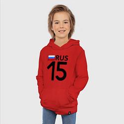 Толстовка детская хлопковая RUS 15 цвета красный — фото 2