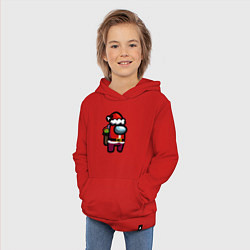 Толстовка детская хлопковая AMONG US CHRISTMAS 1 цвета красный — фото 2