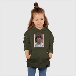 Толстовка детская хлопковая DIEGO MARADONA цвета хаки — фото 2