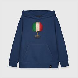 Толстовка детская хлопковая Italy Tree цвета тёмно-синий — фото 1