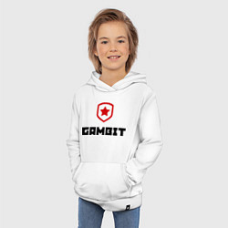 Толстовка детская хлопковая Gambit цвета белый — фото 2