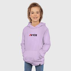 Толстовка детская хлопковая Avicii цвета лаванда — фото 2