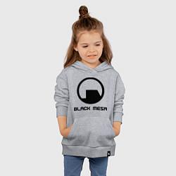 Толстовка детская хлопковая Black Mesa: Logo цвета меланж — фото 2