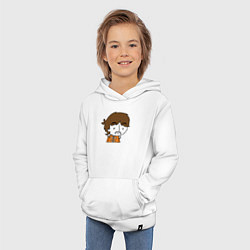 Толстовка детская хлопковая George Harrison Boy цвета белый — фото 2