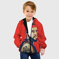 Куртка с капюшоном детская LeBron James цвета 3D-черный — фото 2