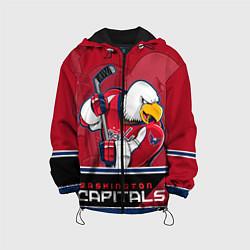 Куртка 3D с капюшоном для ребенка Washington Capitals - фото 1