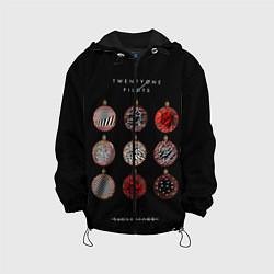Детская 3D-куртка с капюшоном с принтом Twenty One Pilots: New year, цвет: 3D-черный, артикул: 10114501105458 — фото 1