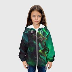 Детская 3D-куртка с капюшоном с принтом Twitch, цвет: 3D-белый, артикул: 10117582705458 — фото 2