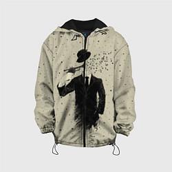 Детская 3D-куртка с капюшоном с принтом Музыкальный самоубийца, цвет: 3D-черный, артикул: 10119328405458 — фото 1