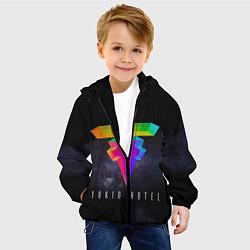 Куртка с капюшоном детская Tokio Hotel: New Symbol цвета 3D-черный — фото 2