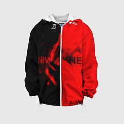 Детская 3D-куртка с капюшоном с принтом Lil Wayne: Black & Red, цвет: 3D-белый, артикул: 10131591505458 — фото 1