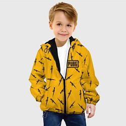 Куртка с капюшоном детская PUBG: Yellow Weapon цвета 3D-черный — фото 2