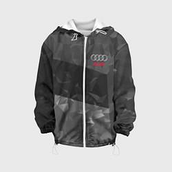 Детская 3D-куртка с капюшоном с принтом AUDI SPORT, цвет: 3D-белый, артикул: 10146298705458 — фото 1