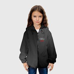 Детская 3D-куртка с капюшоном с принтом Audi: Metallic Style, цвет: 3D-черный, артикул: 10146776905458 — фото 2