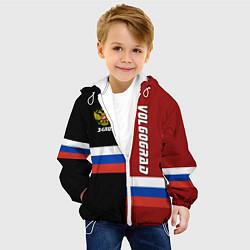 Куртка с капюшоном детская Volgograd, Russia цвета 3D-белый — фото 2