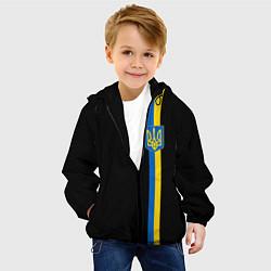 Куртка с капюшоном детская Украина цвета 3D-черный — фото 2