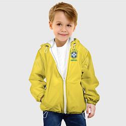 Детская 3D-куртка с капюшоном с принтом Бразилия: ЧМ-2018, цвет: 3D-белый, артикул: 10149097905458 — фото 2