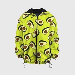 Куртка с капюшоном детская Стиль авокадо цвета 3D-черный — фото 1