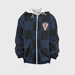 Куртка с капюшоном детская Сборная Хорватии: Гостевая ЧМ-2018 цвета 3D-белый — фото 1
