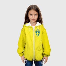 Куртка с капюшоном детская Сборная Швеции: Домашняя ЧМ-2018 цвета 3D-белый — фото 2