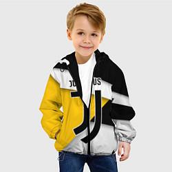 Детская 3D-куртка с капюшоном с принтом FC Juventus, цвет: 3D-черный, артикул: 10152440505458 — фото 2