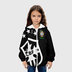 Детская 3D-куртка с капюшоном с принтом Brazil Team: Exclusive, цвет: 3D-белый, артикул: 10153704705458 — фото 2