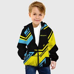 Детская 3D-куртка с капюшоном с принтом Cyberpunk 2077: Samurai, цвет: 3D-черный, артикул: 10154577105458 — фото 2