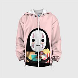 Детская 3D-куртка с капюшоном с принтом Унесенные призраками, цвет: 3D-белый, артикул: 10155852505458 — фото 1