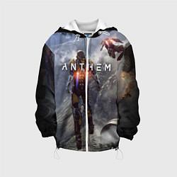 Детская 3D-куртка с капюшоном с принтом ANTHEM, цвет: 3D-белый, артикул: 10156077905458 — фото 1