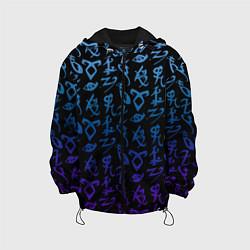 Куртка с капюшоном детская Blue Runes цвета 3D-черный — фото 1