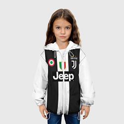 Куртка с капюшоном детская FC Juventus 18-19 цвета 3D-белый — фото 2