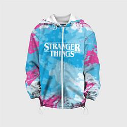 Детская 3D-куртка с капюшоном с принтом STRANGER THINGS, цвет: 3D-белый, артикул: 10183676105458 — фото 1