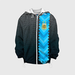 Детская 3D-куртка с капюшоном с принтом Аргентина форма, цвет: 3D-белый, артикул: 10191202705458 — фото 1