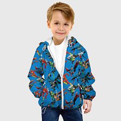 Детская 3D-куртка с капюшоном с принтом Justice League, цвет: 3D-белый, артикул: 10198773705458 — фото 2
