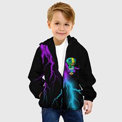 Куртка с капюшоном детская Brawl Stars LEON цвета 3D-черный — фото 2
