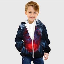 Детская 3D-куртка с капюшоном с принтом Demogorgon Stranger Things, цвет: 3D-белый, артикул: 10203988705458 — фото 2