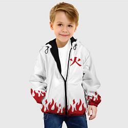 Детская 3D-куртка с капюшоном с принтом HOKAGE NARUTO на спине, цвет: 3D-черный, артикул: 10204864905458 — фото 2