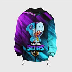 Куртка 3D с капюшоном для ребенка BRAWL STARS LEON SHARK - фото 1