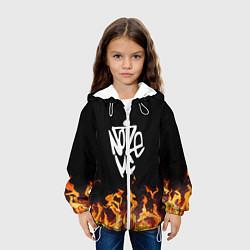 Детская 3D-куртка с капюшоном с принтом Noize MC, цвет: 3D-белый, артикул: 10207398105458 — фото 2