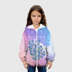Детская 3D-куртка с капюшоном с принтом Тима Белорусских: Незабудка, цвет: 3D-белый, артикул: 10207886705458 — фото 2