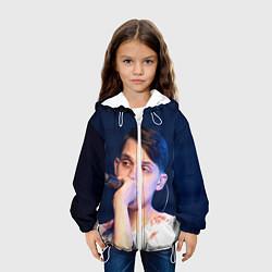 Детская 3D-куртка с капюшоном с принтом Тима Белорусских, цвет: 3D-белый, артикул: 10208031705458 — фото 2