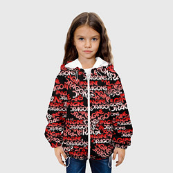 Детская 3D-куртка с капюшоном с принтом Imagine Dragons, цвет: 3D-белый, артикул: 10208265905458 — фото 2