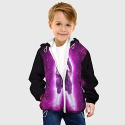 Детская 3D-куртка с капюшоном с принтом Супер Сайян Super Saiyan, цвет: 3D-белый, артикул: 10209891305458 — фото 2