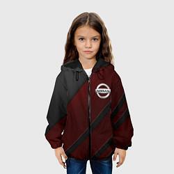 Детская 3D-куртка с капюшоном с принтом Nissan, цвет: 3D-черный, артикул: 10210483305458 — фото 2